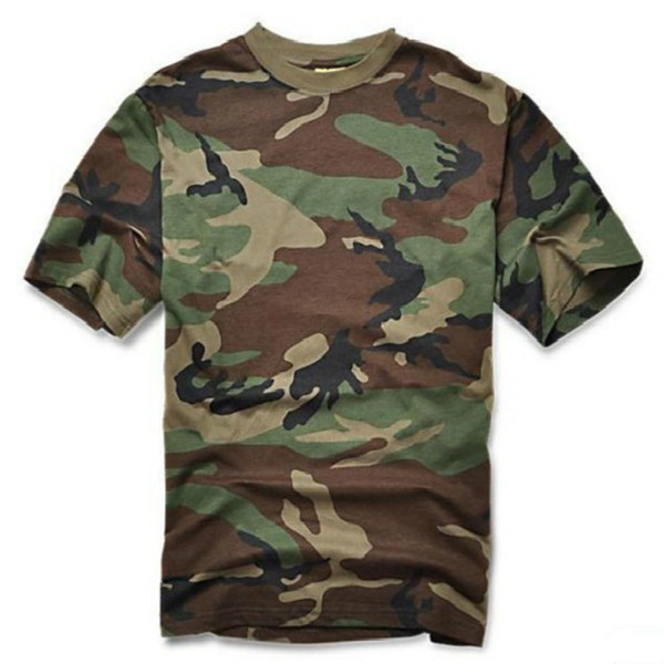 Tactical Army T-shirt Camouflage Tee Shirt Outdoor Sport Camping Hiking Hunting T-shirt Cotton Short Sleeved