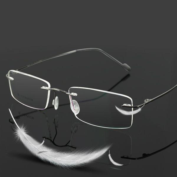 Vazrobe (3g) Titanium Rimless Glasses Frame Men Women Optical Clear Lens Man Lunettes de vue Lunettes de vue Ultra-léger Male