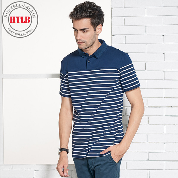 HTLB New Luxury Brand Men Casual Cotton Silk Shirt Men Summer Mens Striped Short Sleeve Slim Fit Male s Shirts