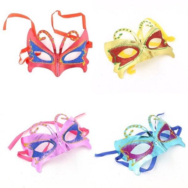 free shipping,20 pcs/lot children Butterfly shape 5 colors for optional Party Masks for Festival using wholesale