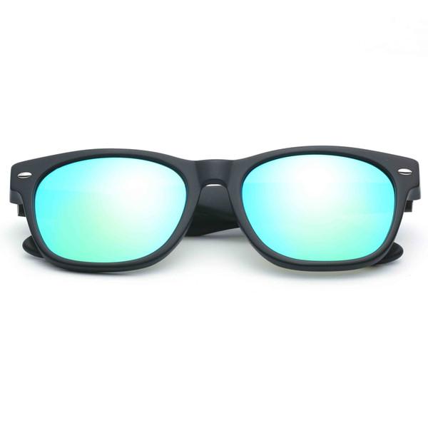 Noir mat - Bleu vert