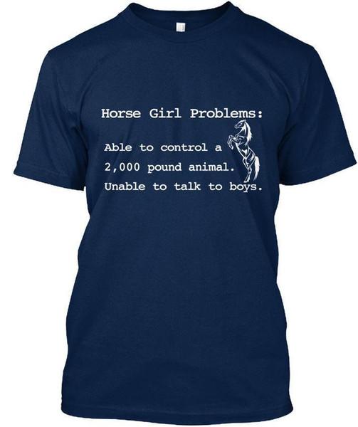 T-shirt standard unisex Comfy Horse Girl (S-5XL)