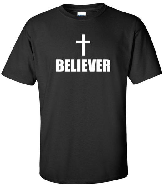 Croyant T-Shirt Christianisme Eglise Jesus Cross Chrétien Conservateur Shirt T Shirt Pour Hommes Meilleures Offres Manches Courtes Thanksgiving Day Custo