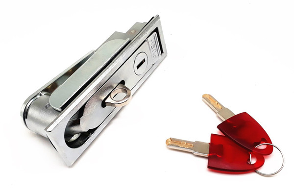 Serrure de porte de serrure de panneau en métal avec le bouton poussoir pour la machine de grue, distributeur automatique