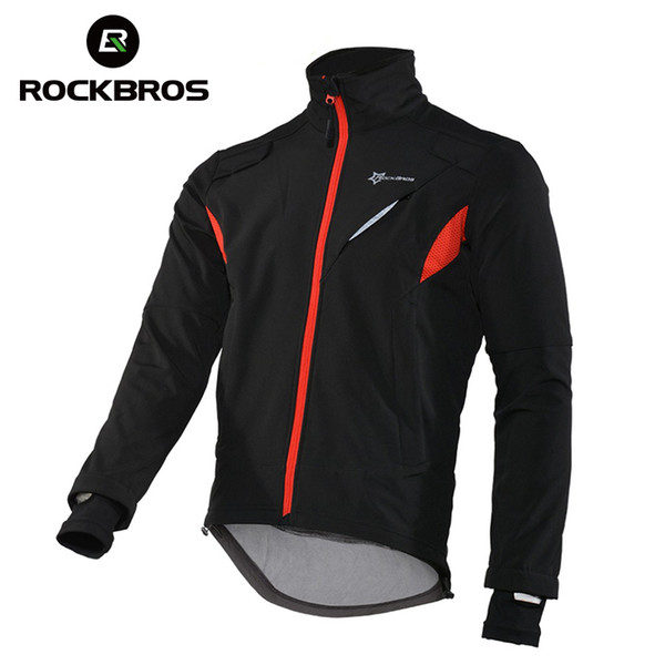 ROCKBROS Wandern Fleece Jersey Winddicht Thermal Long Angeln Jacke Wasserdicht Bike Sport Trikots Winter reflektierende Kleidung Y1893006