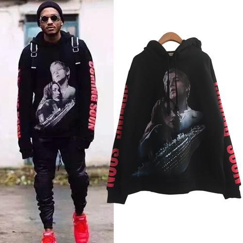 2019 New Vetements Titanic Print Black Hoodie Women Men Hip Hop Oversized  Pullover Hoodie Sweatshirt Boys Girls Skateboard Hoodies YJH1105 From