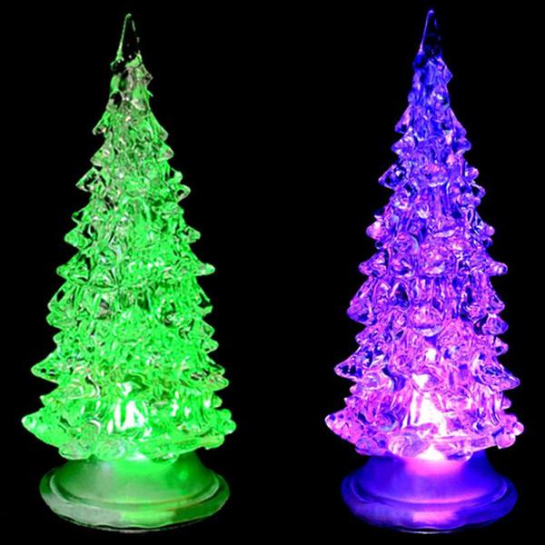 2018 Merry Christmas Tree Topper 19cm Christmas Decorative Flashing Light Tree Light Glitter Home Party Xmas