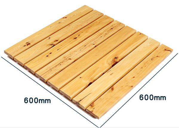 Solid wood shower floor slip-resistant headblock wood floor mats bathroom shower room cedar slip-resistant pad