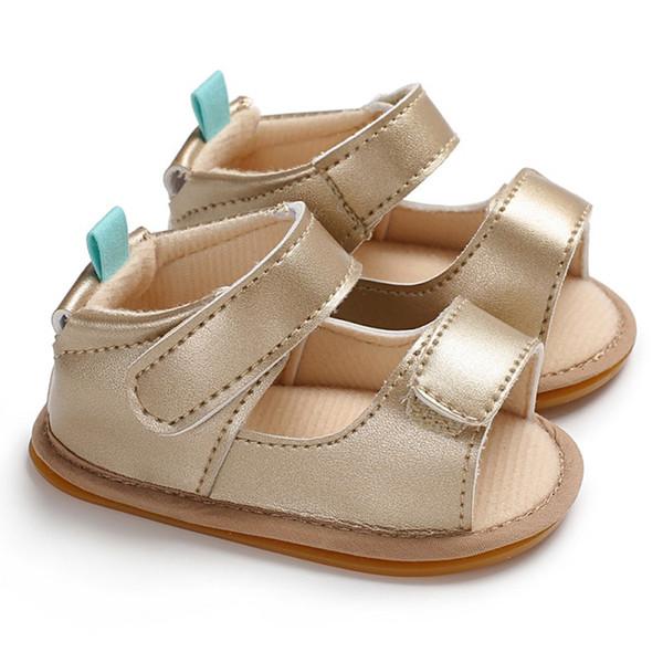 2018 Moda Verão Primeiros Caminhantes Princesa Do Bebê Meninas Sapatos de Couro PU Crianças Calçado Sola De Borracha Macia Antislip Prewalker Q1