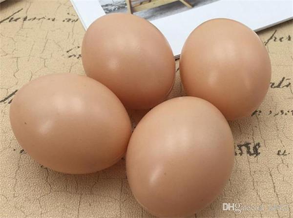 5Pcs Chicken Hen Poultry Faux Fake Plastic Eggs Restaurant Food Model Props Pet Supplies