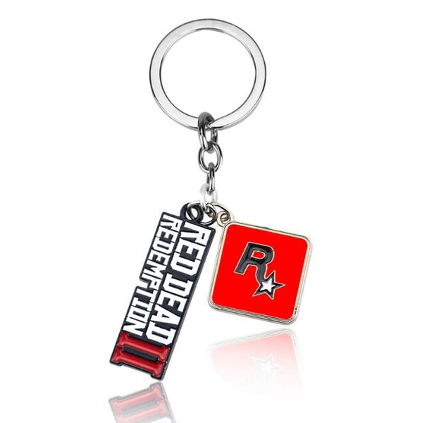 New Game Red Dead Redemption 2 Keychain Metal Key Ring Chain 3D Letter For Men Car Women Bag Jewelr