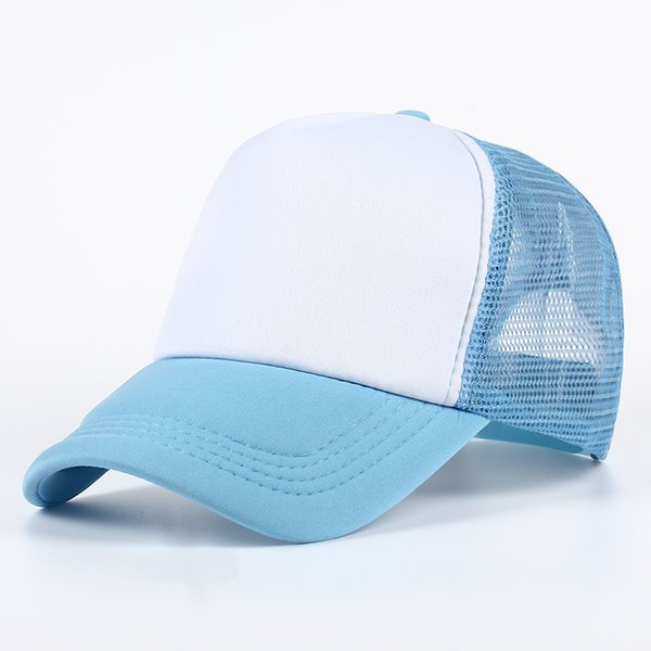 11 color Wholesale and retail Trucker Mesh Hats Summer Women Blank Mesh Snapback Cap Spring Mens Foam Net Snap Back Caps