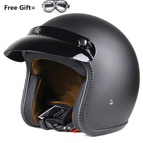 Motorcycle Half Helmet Harley Cruisers S,M,L,XL,XXL Open Face unisex helmet DOT approved Helmets Unisex-Adult