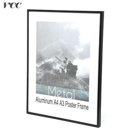 VCC Çerçeve Duvar Sanatı Dekoratif, Siyah Deluxe Alüminyum A4 A3 Poster Çerçeve Duvar Asılı, Metal Fotoğraf Çerçevesi, Sertifika Çerçeve,