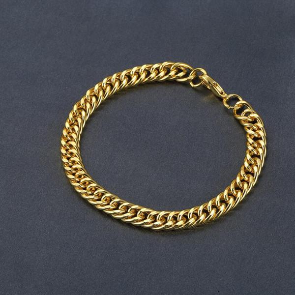 Secret Double Woven Bracelet for Men Curb Chain Round Curb Cuban Link Men's Bracelet Silver Gold Color Jewelry