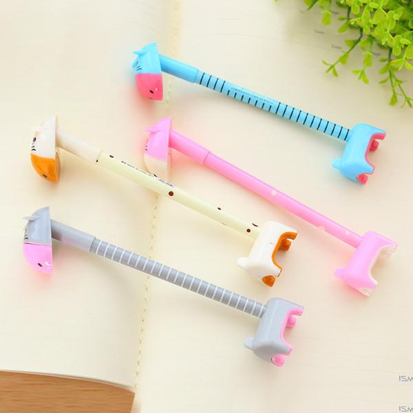 Cute Creative Giraffe Ballpoint Pen Kawai 0.5mm Ball Pens For Writing Novelty Items Bts Korean Stationery Office School Supplies