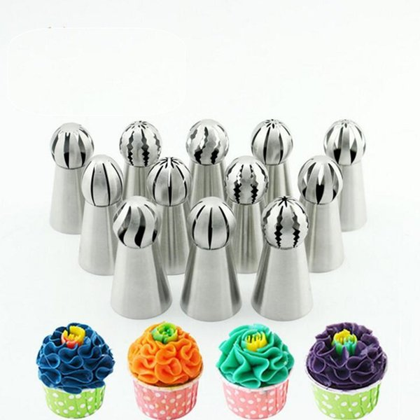 2019 Baking Tools Cake Decorating Dies Piping Pastry Bag 304 Stainless Steel Nozzle Set Icing Piping Tubes Bakeware Cake Dessert Decorators From