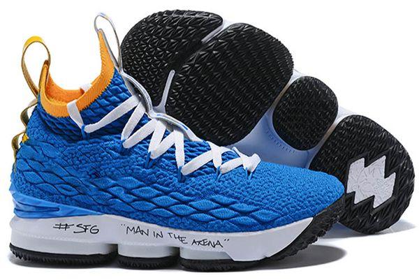 buy online 3ee16 e4edd New Kids Basketball Shoes For Men Lebron 15 Low Xv South Beach Metallic  Silver Ep Oreo Balck White Light Bone Signal Blue Cheap Running Shoes For  ...