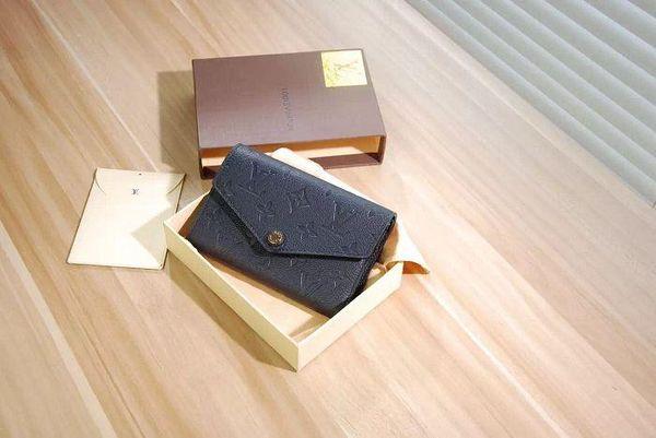 Empreinte leather wallet Curieuse short wallet M60568 OXIDIZED LEATHER CLUTCHES EVENING LONG CHAIN WALLETS COMPACT PURSE