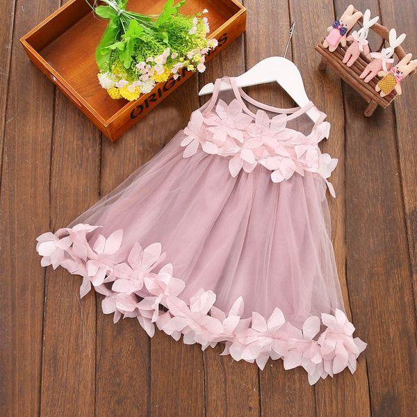 Kinder Mädchen Sommerkleider Neugeborenes Baby Kinder Mädchen Prinzessin Kleid Party Kleid Tageskleider 0-3Y Hot