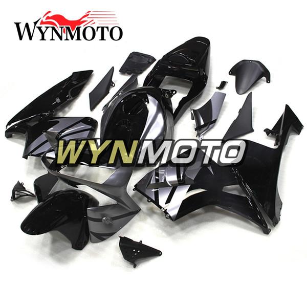 Carenados completos para Honda CBR600RR F5 2003 2004 Año 03 04 Kits de cuerpo de moldes de inyección Cubiertas de carenado de motocicleta Cascos de carrocería Silver Black