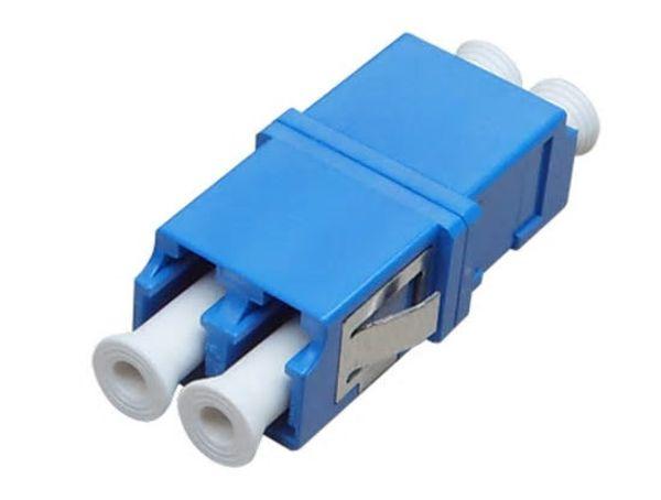 50pcs/lot LC-LC Fiber Optic adaptor FTTH DX SM Duplex LC UPC Flange Connector,FTTH Fiber Optic Adapter Free Shipping