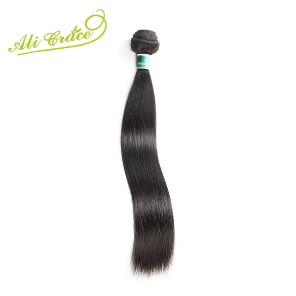ALI GRACE Hair Malaysian Straight Hair Weave 1 Bundle Only Natural Color 100% Remy Human Extension 10-28 Inch Free Shipping
