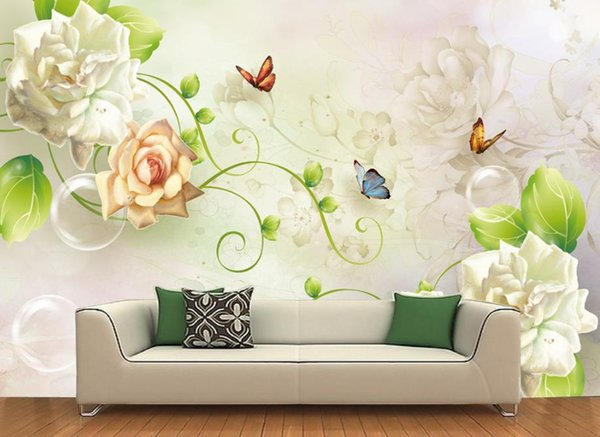 3d Mural Wallpaper Butterfly Peony Flower Wallpaper For Walls Hotel Office Ktv Decorative Papel De Parede Brick Wallpapers Love Wallpapers Mobile