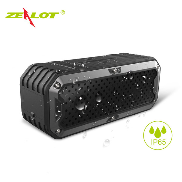 best selling New ZEALOT S6 Waterproof Portable Wireless Bluetooth Speakers Power Bank Built-in 5200mAh Battery Dual Drivers Subwoofer Aux