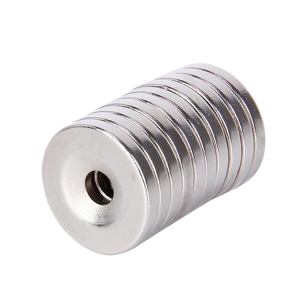 10 stücke 20x3mm Loch 5mm N35 Super Starke Permanet Runde Neodym Senker Ring Magnet 20mm x 3mm Rare Earth Magneten 20 * 3