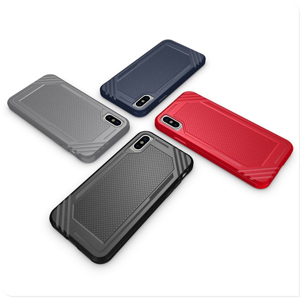 Free Shipping TPU HYT Phone Case for iPhone 6 7 8 Plus iPhone X Black Navy Red Gray Color Back Cover
