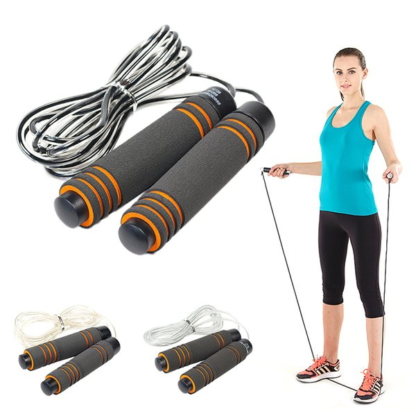 Professional Steel Wire Jump Rope Skipping Adjustable Thread Fitnesss Equimpment Workout Exercise Accessories 3 Types