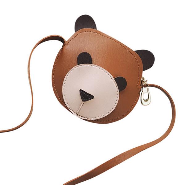 Hot Sale Girl Shoulder Bag Handbags & Cute Bear Handbags Kids Mini Flap Tote Crossbody Bag Pure Color Hasp PU Leather Mini Bags