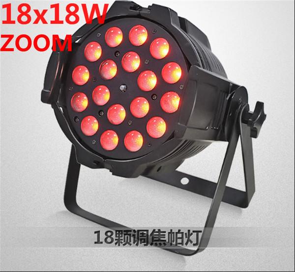 18x18 w zoom par luce dmx luci dj par 64 rgbwa uv 6in1 led par luce per dj disco party