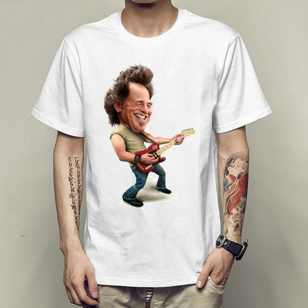 Bruce Springsteen t shirt the E street band short sleeve gown Rock singer tees Unisex clothing Quality modal Tshirt