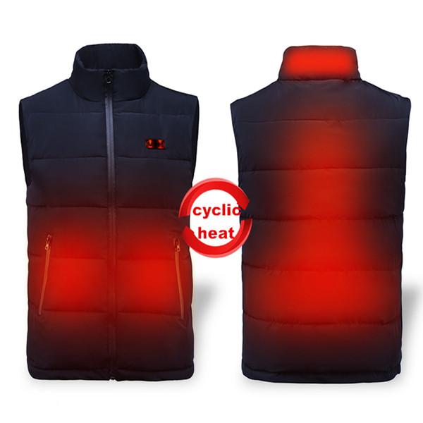 Women Ski Jacket Vest Cordless Heated Vest Winter Electric Heating Clothing Men Jacket Thermal Clothing 12000mah Battery S-4XL