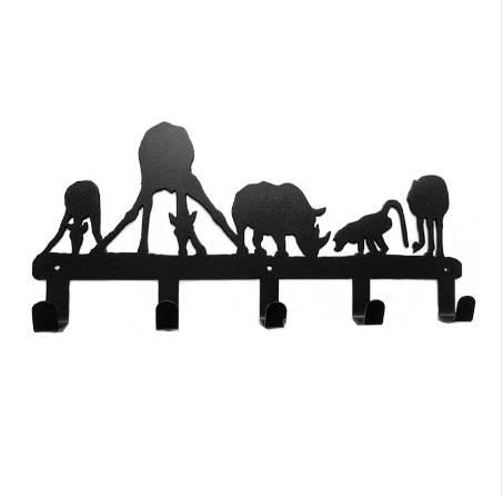 Original Design Decorative Metal Wall Hook Coat Hanger Unique Style Animal Drinking 5 Hooks Home Decoration Bathroom Accessories