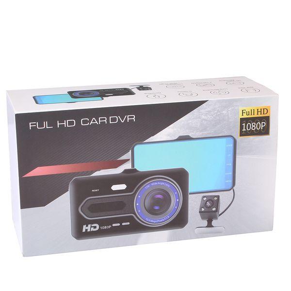 Car DVR Dual Lens Camera Full HD 1080P Videoregistratore Specchietto retrovisore CT508 Altoparlante incorporato con scatola al minuto