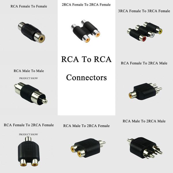 6PCS RCA a RCA Maschio Femmina Presa Cavo Estensione Phono Adattatore r Connettore audio video Cavo esteso