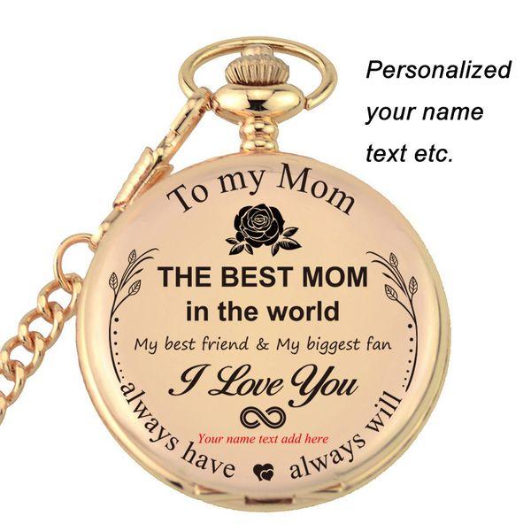 Acheter La Meilleure Maman Au Monde Cadeau Pour Maman Anniversaire Cadeau Fête Des Mères Personnalisé Gravé Avec Votre Texte Nom Montre De Poche De