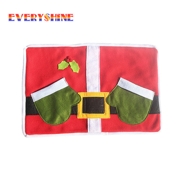 2pcs/lot Christmas Decorations for Home Table Placemat Hotel Cafe Tableware Mat Christmas Gift Heat Insulation Pad SD184