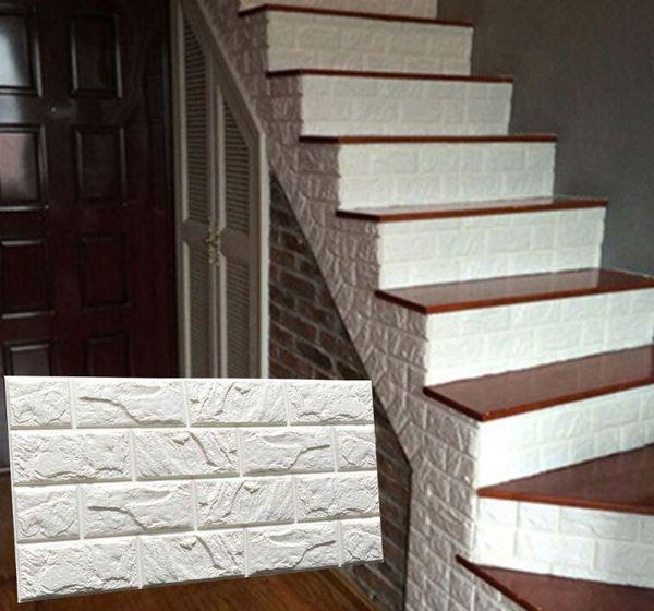 PE Foam 3D DIY Stein Ziegel Wandaufkleber Wohnkultur Poster Tapete Für  Wohnzimmer Küche Selbstklebende Kunstwand 60x30