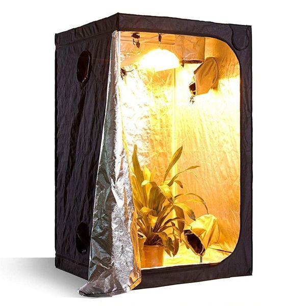 100 * 100 * 200 cm Kapalı Hidroponik Büyümek Çadır Işık 60/80/100/120/150 Büyümek Oda Bitki Büyüyen Yansıtıcı Mylar Toksik Olmayan Bahçe Seralar