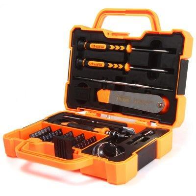 JAKEMY JM-8139 45 en 1 kit de tournevis multi-bits avec pince à épiler pour tablettes réparation de téléphone portable PC