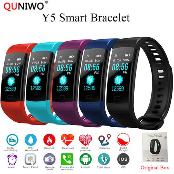 2018 neue Smart Band Herzfrequenz Tracker Fitness Tracker Y5 Smartband Smart Armband wasserdichte Armband Uhr Männer