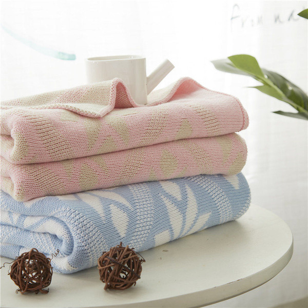 Totally Cotton Knitted Blanket Child Air Conditioning Lunch Break Blanket New Product Hold