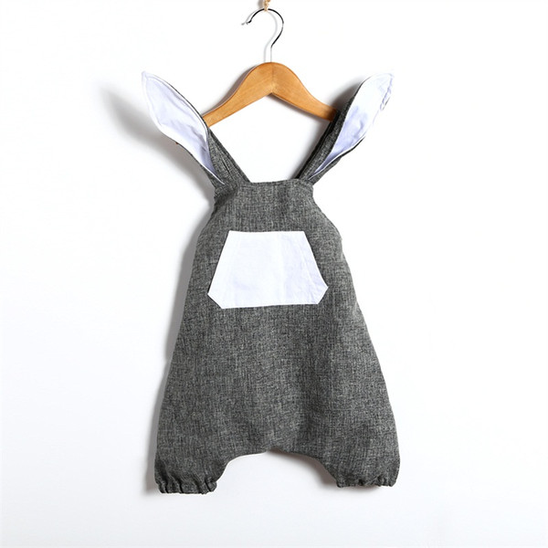 Baby Clothing Easter Bunny Bodysuit For Boy Girls 2018 Summer Baby Boy Girl 3D Rabbit Ear Romper Jumpsuit Girls Dresses Outfit Kids Clothes