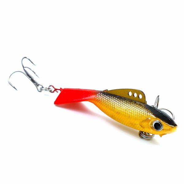 4pcs 57mm 12.2g Fishing Lure Winter Ice Fishing Hard Bait Minnow Pesca Isca Artificial Bait Crankbait Swimbait Winter Fishing