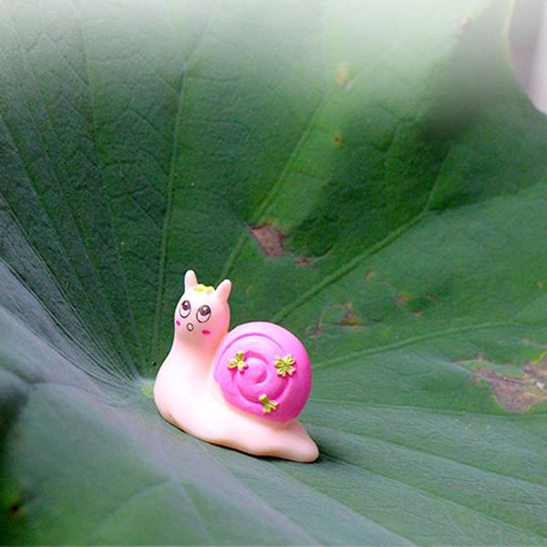 1pcs Cartoon Toy Snail Zakka Fairy Garden Miniatures Bonsai Tools Terrarium Figurines jardin gnomes Home Decor Accessories Micro Landscape