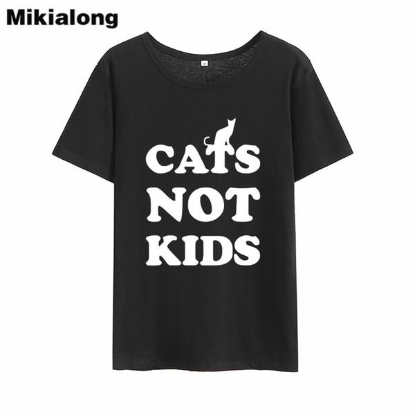 T da senhora deputada ganhar gatos não crianças mulheres verão t-shirt harajuku kawaii em torno do pescoço preto branco camiseta mulheres tumblr regular camiseta mujer